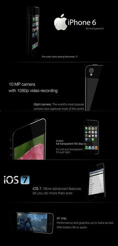 German designer revealed a concept iPhone 6 with a transparent display - Tech Passion with Tech Updates