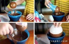 Diy - chocolate ice cream bowl
