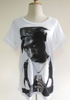 2Pac Shirt  Tupac Shakur Rap Hip Hop Gang Rap Hip by panoTshirt, $17.00