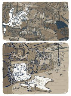Visual development from Tangled by Philip Vose