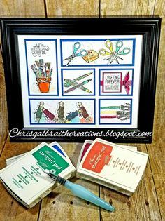 Creations by Chris: Crafting Forever Framed Sampler Diy Shadow Box, Shadow Box Frames, Fall Craft Fairs, Box Frame Art, Stamping Up Cards, Marianne Design, Homemade Cards, Making Ideas, Frames