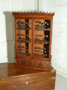 Antique Victorian Mahogany Chemist S Or Bathroom Cabinet Medicine Apothecary
