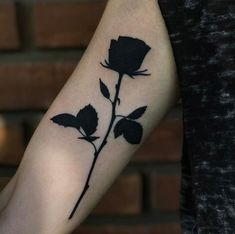 Heavy blackwork rose by Eric Stricker