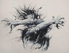 Paolo Troilo - pinturas usando apenas os dedos