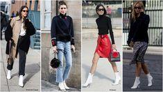 12 paires de boots blanches ultra tendances à tous les prix - L'officieux Le Prix, Capri Pants, Winter, Skirts, Fashion, How To Wear, Boots, Fashion Ideas, White People