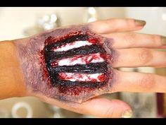 Exposed Bone Effect - Halloween Makeup Tutorial