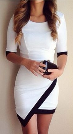 Try this style with $22.99 Only! It is a body-con knitting dress detailed with hidden side zipper&half sleeve. A must-have for your wardrobe! Find it Flattering at Cupshe.com .