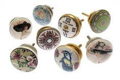 Classic & Vintage Ceramic Knobs – Ideal for Doors, Drawers, Wardrobes Ceramic Door Knobs, Cupboard Knobs, Vintage Ceramic, Wardrobes, Drawers, Decorative Plates, Ceramics, Doors, Classic