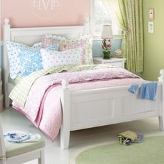 Possibly this style for transforming my toddler's nursery into a big girl's room.