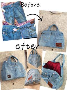 c09c0facd62f Andyaaf diferentes manualidades con jeans – Artofit Denim Tote Bags, Patchwork  Jeans, Denim Crafts