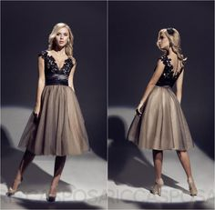 Princess Sexy Sheer Crew Neck Short Sleeves Cocktail Party Dresses Tulle with Lace Knee Length A-line Illusion Zipper Buttons Prom Dress Hot Online with $114.04/Piece on Marrysa's Store | DHgate.com