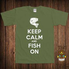 Funny Fishing Tshirt Fish Tshirt Tee Shirt Hunting by TikiTee