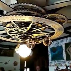 "Polubienia: 5,271, komentarze: 126 – Steampunk Tendencies (@steampunktendencies) na Instagramie: ""Chandelier ""solar system""  #steampunktendencies #steampunk #art #architecture #furniture #design…"""