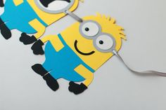 Beautiful and really cute Minions Boy Birthday Banner! Its really gorgeous! This listing is for HAPPY BIRTHDAY banner with many options (see