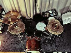 """Morning Grooves with Tama Starclassic Bubinga Kit 20"""" Bassdrum - 10"""" Tom - 12"""" Tom - 14"""" Floor Tom - 8"""" Tom - 14"""" S.L.P. Walnut Snaredrum - 10"""" S.L.P. Oak Snaredrum, Anatolian Cymbals and Evans Drumheads (Snare Evans Coated G1, Toms Onyx Drumheads, Bassdrum EMAD Onyx And RESO 7 Heads on the Toms) @official_tama_drums_japan @officialtamadrums @evansdrumheads @anatoliancymbals @anatoliancymbalsofficial @qscaudio @audixmics @solomonmics"""