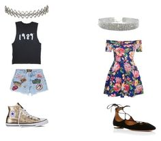 """Untitled #226"" by em-4-ever-2004 ❤ liked on Polyvore featuring MadeWorn, Converse, New Look, Aquazzura and Assya London"