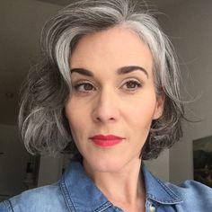 Grey hair.                                                                                                                                                                                 More