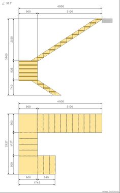 Cálculo escada c 180 graus virar Interior Architecture Drawing, Stairs Architecture, Stair Railing Design, Home Stairs Design, Stair Dimensions, Stair Plan, Escalier Design, Building Stairs, Exterior Stairs