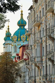 Kiev | Ukraine...my daughter is there now. I'm sure she is loving the old architecture. I can't wait to see her pictures.