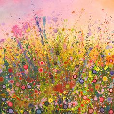 My meadow work is evocative of childhood innocence; a place of beauty drenched in colour. I dance with rainbows of paint and enter a world of joy, magic and wildness. Each piece completely demands all of my emotional and physical presence.