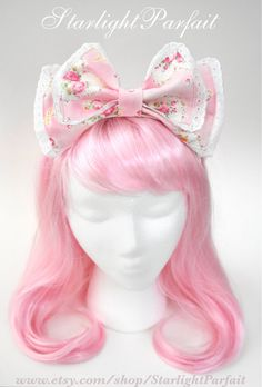 Hey, I found this really awesome Etsy listing at https://www.etsy.com/listing/505065089/cute-pink-hair-bow-kawaii-fashion-hime