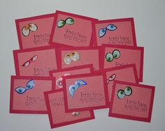 Set of 12 Handmade Kids Valentine's Small Greeting by Sassadoodle