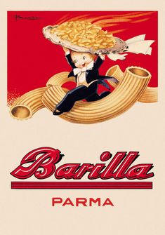 the art of cooking poster design contest celebrates barilla sauce in italian cuisine Vintage Food Posters, Old Posters, Vintage Italian Posters, Pub Vintage, Vintage Advertising Posters, Vintage Labels, Vintage Advertisements, Food Advertising, Vintage Design Poster