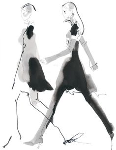 #DavidDownton #illustration #fashionillustration