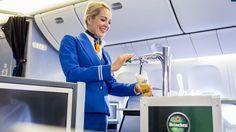 KLM launches world's first in-flight draught beer - https://www.businesstraveller.com/business-travel/2016/09/03/klm-launches-worlds-first-flight-draught-beer
