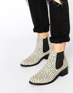 Park Lane Cheetah Pony Chelsea Boots