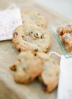 Brown Butter Chocolate  Chip Cookies stuffed with caramel