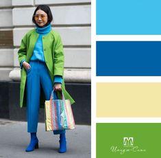 Colour Combinations Fashion, Color Combinations For Clothes, Color Blocking Outfits, Fashion Colours, Colorful Fashion, Color Combos, Color Matching Clothes, Color Games, Colour Pallete