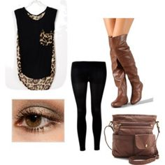 #cheetah #fashion #skinnyjeans #brown #cute with black chucks instead of boots
