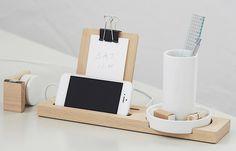 W+W Stationary Series Wood Desk Organizer, Remodelista