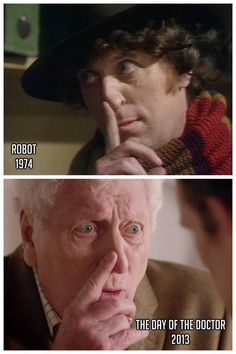 OMG tell me i'm not the only one that thinks Tom Baker could pull off the 4th Doctor look again just with the right wig!