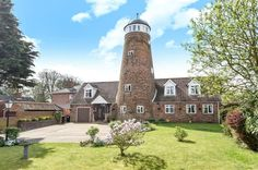 Restored mill is now a family home for sale for the price of a London studio flat. Unique Homes For Sale, Unusual Homes, London Underground Stations, Unusual Buildings, Listed Building, Cinema Room, Water Tower, East Sussex, Pent House