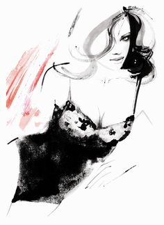 fashion illustrations by kornelia dębosz