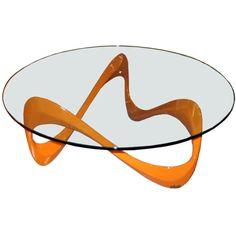 """Roland Schmitt """"Schlangentisch"""" Coffee Table"""