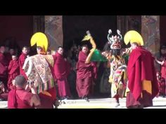 Cham Dance (2) at Rongwu Monastery, Repkong. Amdo Region. - YouTube