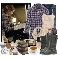 """Dress like you're going camping in the middle of winter """"Hermione"""" by katrinaalice on Polyvore"""