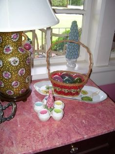 My Easter Basket I had as a child complete with original plastic grass. I treasure it!  www.markballard.com