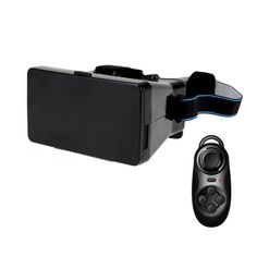 """Virtual Reality VR 3D Mobile Phone 3D Glasses Movies Games With Resin Lens For 3.5"""" to 6"""" Smartphone. It is a great supplement and extending device of the network set-top box and bring you wonderful experience of watching movies and playing games. Uses ABS and 42mm spherical resin lens material without stimulation plastic sheet, environmental. Multifunction Wireless Bluetooth V3.0 Selfie Shutter Remote/Gamepad/Controller. Greatly enjoy a private visual feast comfortably and convenient to…"""