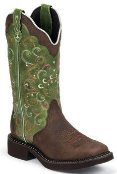Justin Boots Women's Gypsy Equestrian Boot,Walnut Blazer/Vibrant Green,11 B US Justin Gypsy Boots,http://www.amazon.com/dp/B00EXR6LHM/ref=cm_sw_r_pi_dp_XNAGsb0DRJ58116K