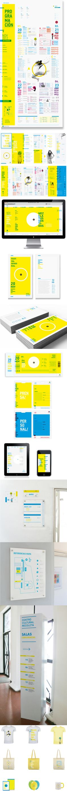 Sinestesia Festival Identity by Martina. Lovely, bright, and full of typographic fun.