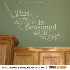 This Kitchen is Seasoned with Love Vinyl Wall Art Sticker Decal. $17.95, via Etsy.