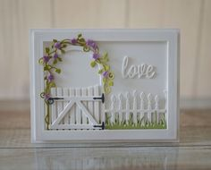 Love in the Garden card by Regina Mangum #Cardmaking, #Wedding, #Anniversary, #ValentinesLove, CuttingPlates, #TE, #ShareJoy