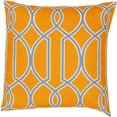 Surya Pillow – FF037 $45.25 Per Pillow #interior #design #home #decor #pattern #print #orange #summer #trend #style #living #room