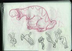dino_sketch by ~ahmettabak on deviantART