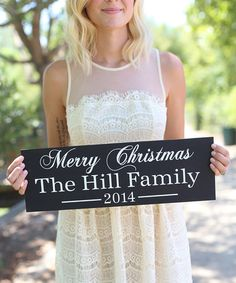 Look what I found on #zulily! Christmas Family Personalized Wall Sign #zulilyfinds