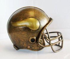Minnesota Vikings NFL Helmet Statue/Sculpture by Tim Wolfe-Desk top Decoration
